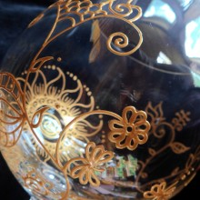 Mehndi Glass – One of a kind crystal, hand painted glassware