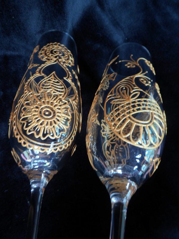 Mehndi Arm Glass : Mehndi glass indian wedding gifts