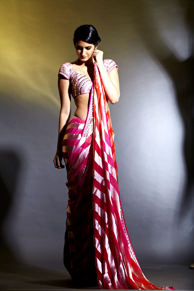 Satya Paul Festive Collection- Printed Saree
