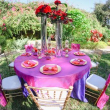 A Styled Shoot *red, magenta, gold by Moons and Balloons Photography