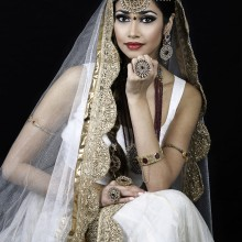 Winter White Wedding Makeup Artistry by Nida Nafees