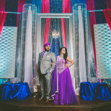 Nav + Manny // Canadian Indian Wedding Reception