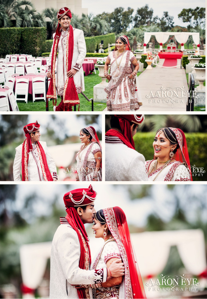 first-look-bride-groom-couple-pictures-indian-wedding-torrey-pines-la-jolla-san-diego-1