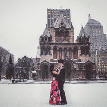 Rekha + Ryan // Boston Public Library Engagement Session