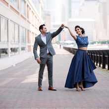 Dolly + Ajay // Engagement Session Hyatt Jersey City