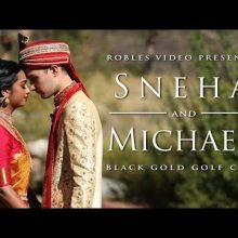 Sneha + Michael // Cinematic Wedding Day Highlight  by Robles Video Productions
